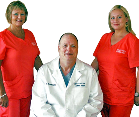 Doctor Gelinas and staff